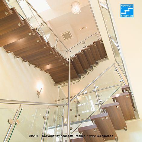 Kenngott treppe terzo stufen nussbaum mb freitragende kenngott ...