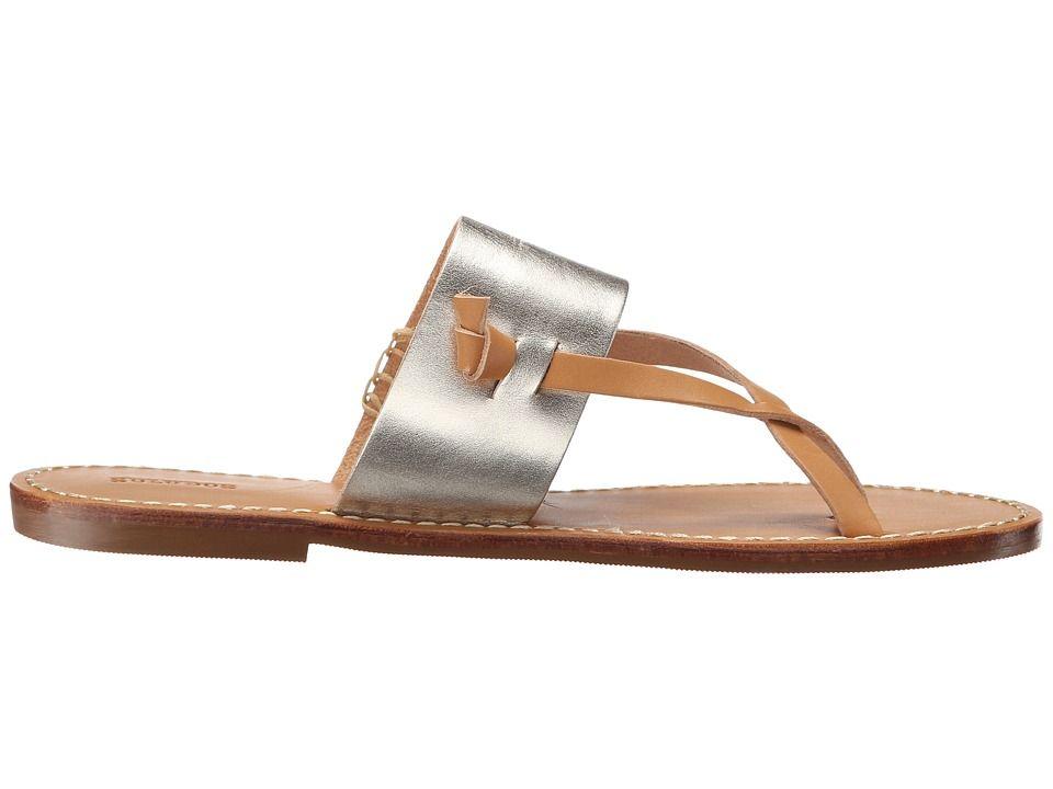 10e6d1d25cb6 Soludos Slotted Thong Sandal Women s Sandals Metallic Platinum