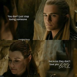 Love this and Legolas was so chivalrous about the whole thing He