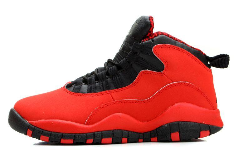 49b63283564bea Air Jordan Retro 10 Women Shoes Red Black 2014 Cheap On Sale
