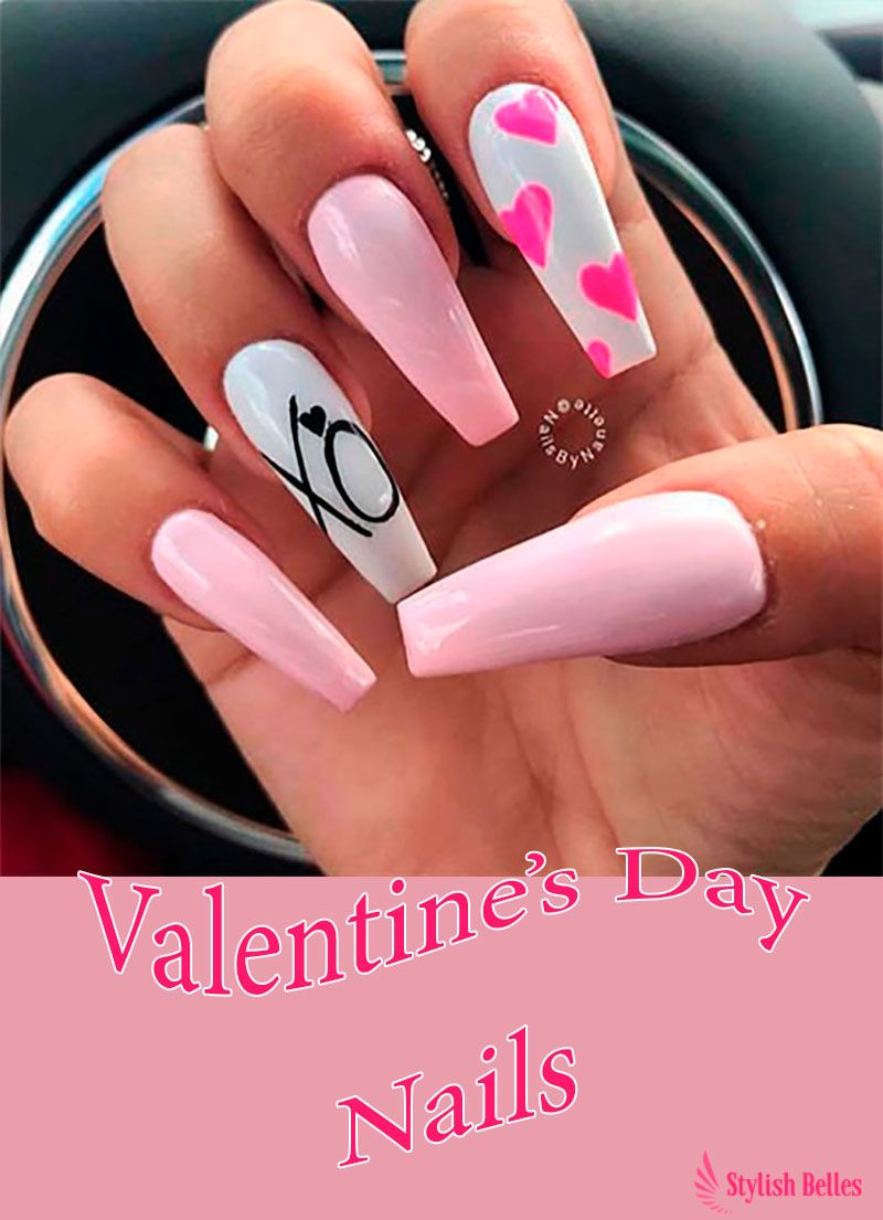 The Best Valentine S Day Nails Right Now With Images Coffin Nails Designs Valentine S Day Nails Valentines Nails