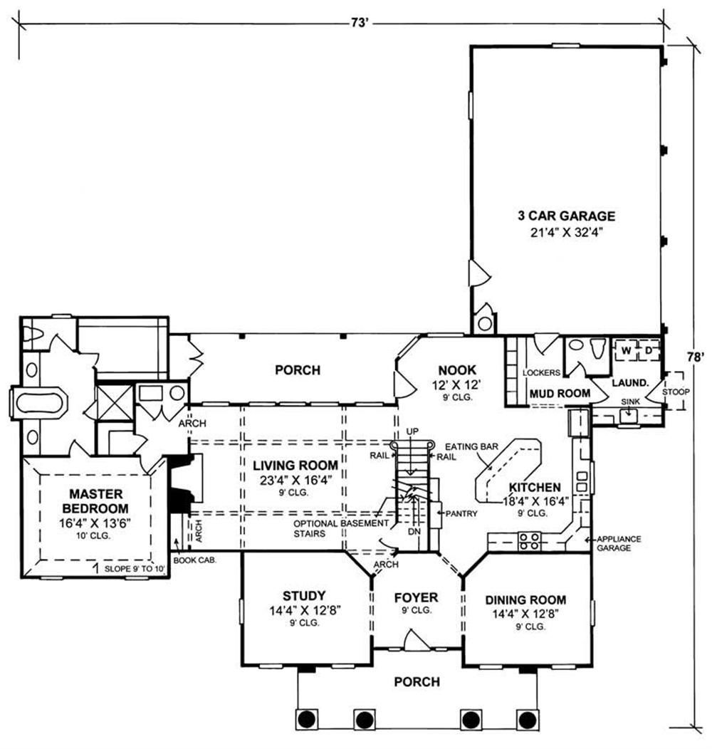 4 bedrm 3270 sq ft colonial house plan 1781034