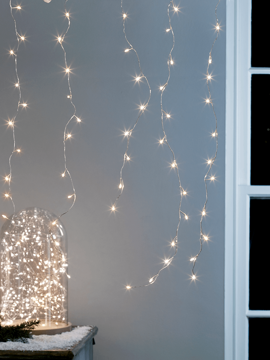 Indoor Outdoor Naked Wire Icicle Lights - Christmas Lighting ...