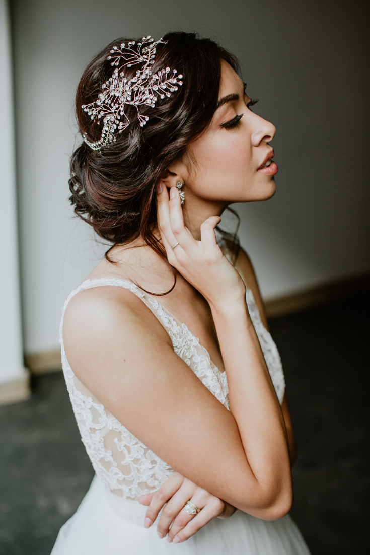 grace + ivory styled shoot bridal headband | bridal