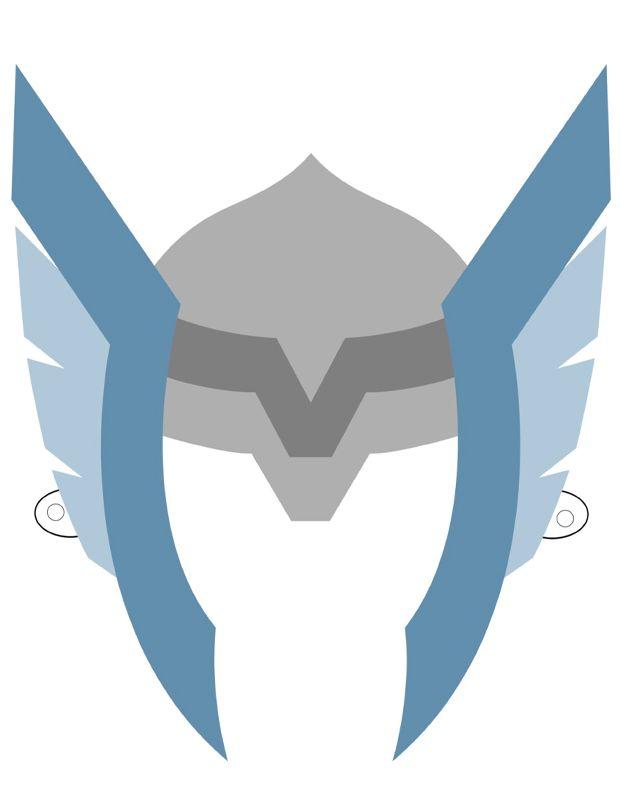 Masque de thor imprimer et d couper super hero - Masque de super heros a imprimer ...
