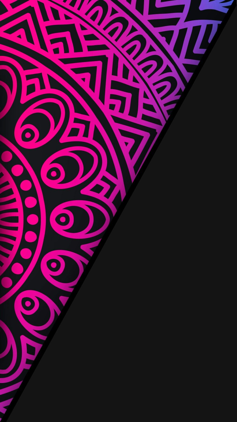 Black Neon Wallpaper Abstract