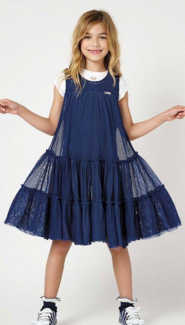 8de42f653d6b046 Платье для подростка синее | Girls | Детская мода, Одежда, Мода дети
