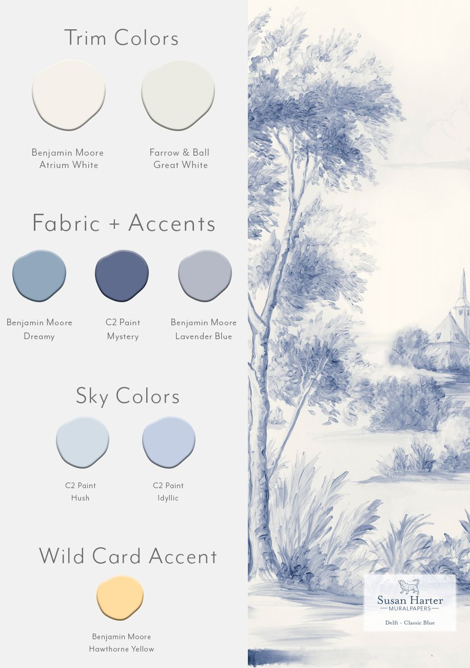 Delft Classic Blue Sample 12 in 2020 Mural, Paint