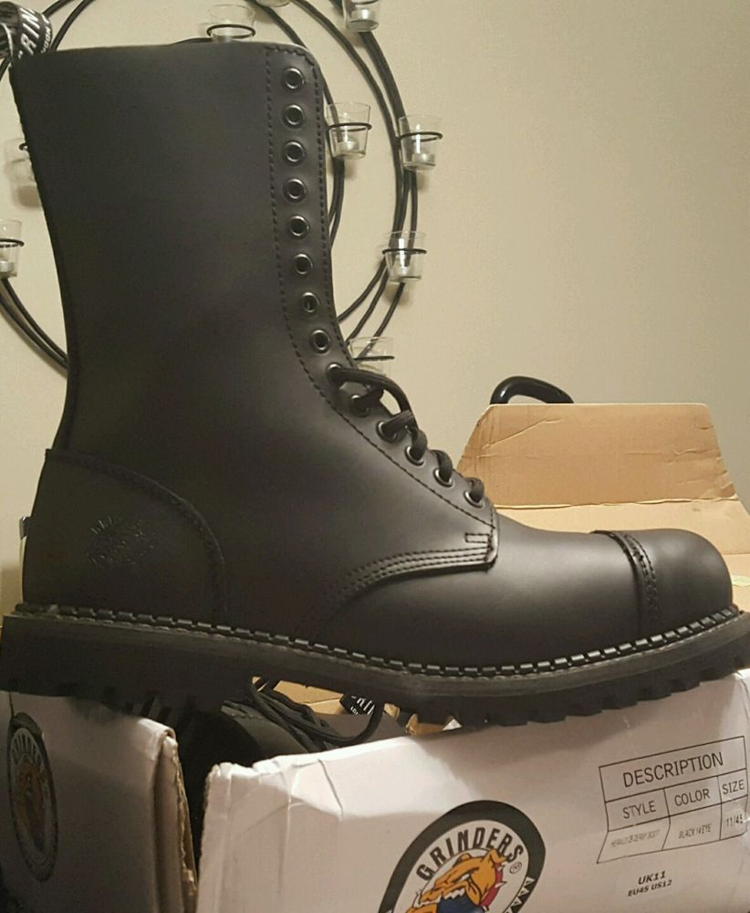 BRAND NEW Grinders Herald combat steel toe boots shipped from USA!