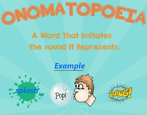 Onomatopoeia Figurative Language Pinterest Language - resume definition