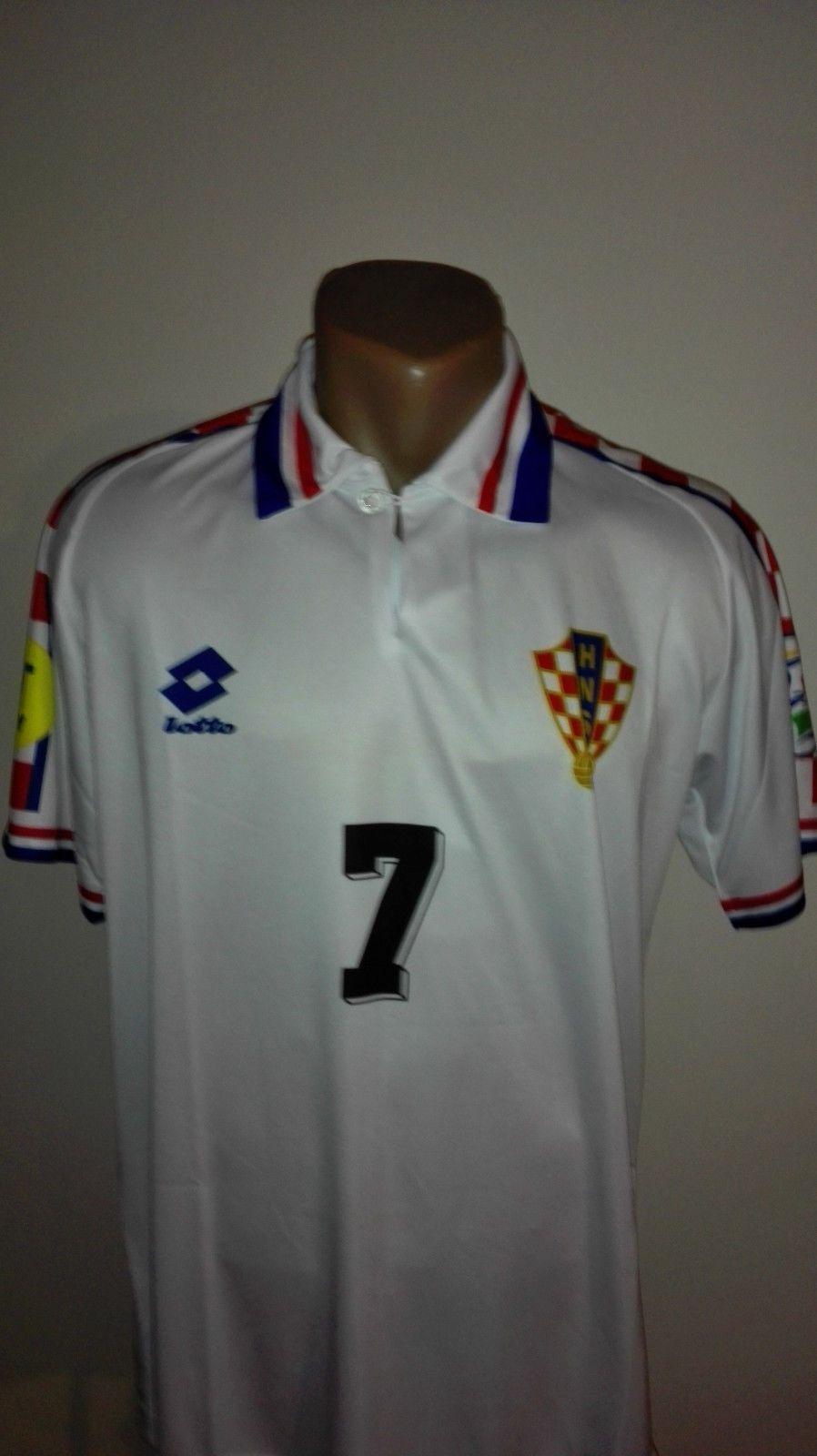 653dc8a6b Details about CROATIA Retro Football Jersey EURO 1996 Trikot Soccer Shirt  ASANOVIC HRVATSKA