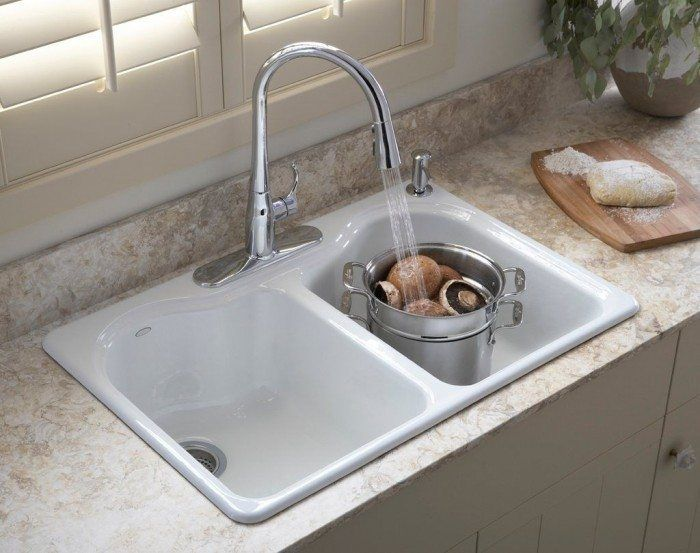 Ideas For Kitchen Sinks Drop In Sink And Faucet on