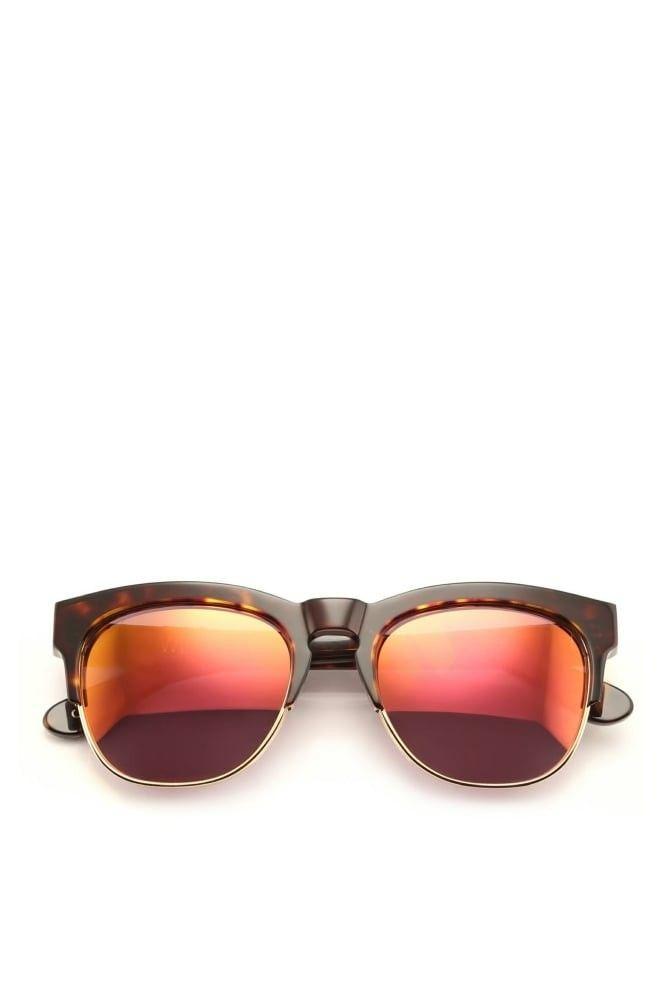 4a8cbc75a7e6f Wildfox Sunglasses Classic frame Italian acetate Contrast metal rimmed  lenses Flash mirror lens Handmade CR39 Optical