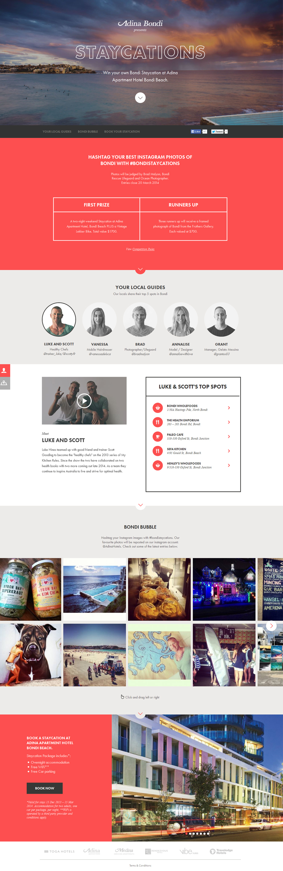 Css Author Bondi Staycations Web Design User Interface Design Interface Design