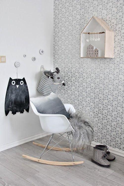 tag re maison nichoir rocking chair eames home. Black Bedroom Furniture Sets. Home Design Ideas