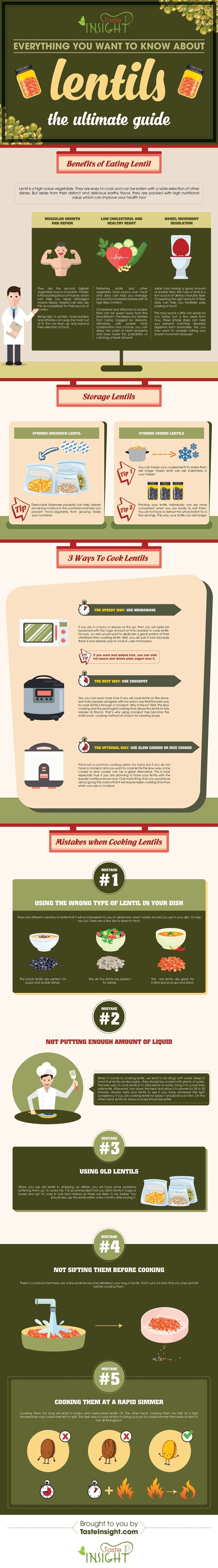 Everything You Want To Know About How to Cook Lentils #Infographic #Food
