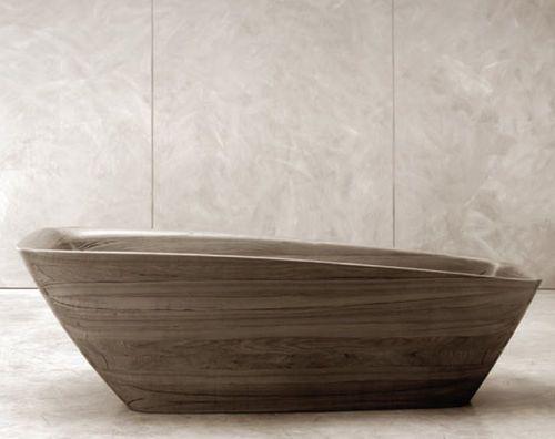 Bagno rettangolare ~ Vasca da bagno rettangolare da centro stanza in legno abby