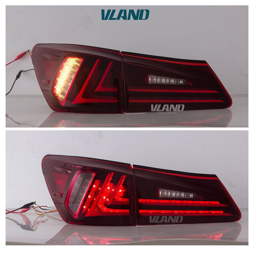 Tail Lamp Assembly Tuning Led Taillights 2006 2012 Is250 Is350 Vland Lexusis250taillight Lexusis250taillights Lexusis250tail Tail Light Car Lights Headlamp