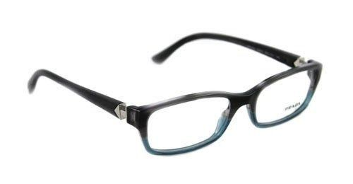 35bd1b51faf NEW PRADA PLASTIC MEN WOMEN GREY DENIM EYEGLASSES VPR 07N RY0-1O1 55MM  17-140  PRADA  Rectangular
