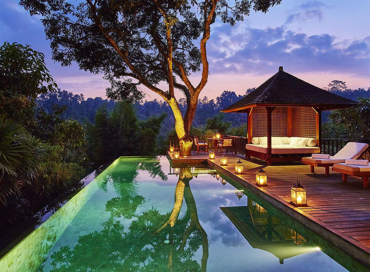 Como Shambala Estate Lies In Bali In Indonesia And Is A True Retreat For Change With Resident Experts Cool Swimming Pools Swimming Pool Parts Swimming Pools