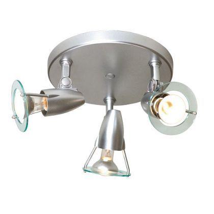 Sante Spotlight Silver Effect 3 Plate At Homebase Homebase Outdoor Living Diy Wall Lights