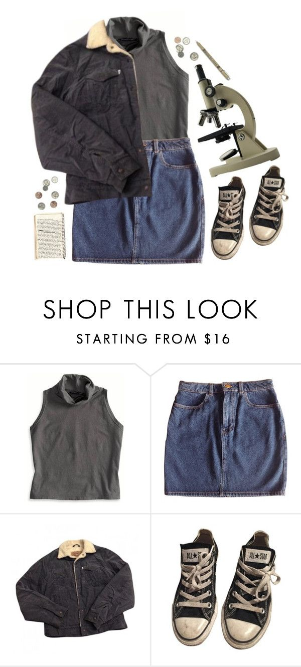 """""""scientist"""" by dahmergirl ❤ liked on Polyvore featuring American Eagle Outfitters, American Apparel, Levi's and Converse"""