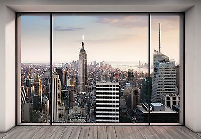 Wall Mural New York City Skyline Penthouse Photo Wallpaper 368x254cm Wall Art New York Penthouse Penthouse Photos Photo Mural