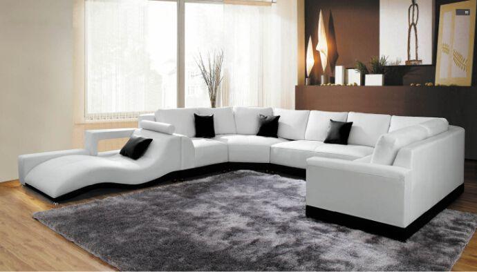 moderne ecke sofas und leder ecksofas für sitzgruppe wohnzimmer, Design ideen