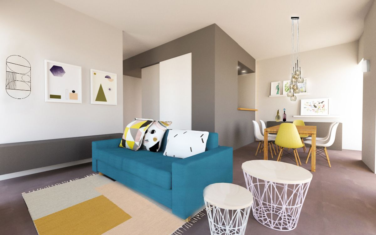 Apartamento trendy youdekor apartamento moderno con for Acabados apartamentos pequenos