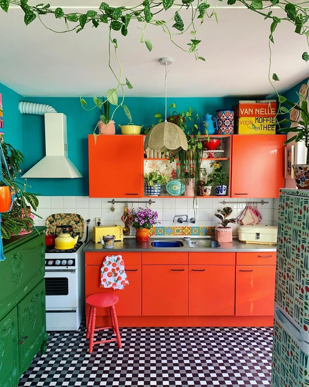 bohemian interior decor on instagram via bohemian decors would you like a colorful kitchen on kitchen interior boho id=91558