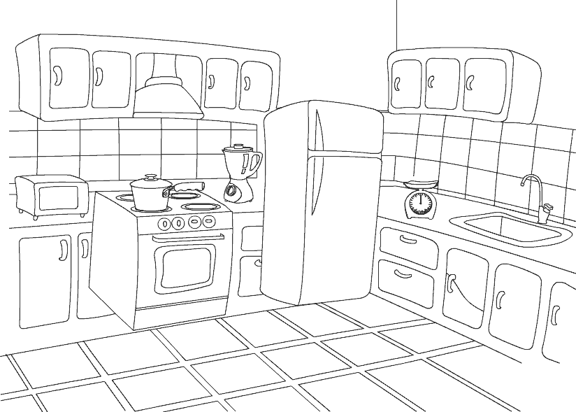 Coloring Pages Kitchen Only Coloring Pages Coloring Pages Free Coloring Pictures House Colouring Pages