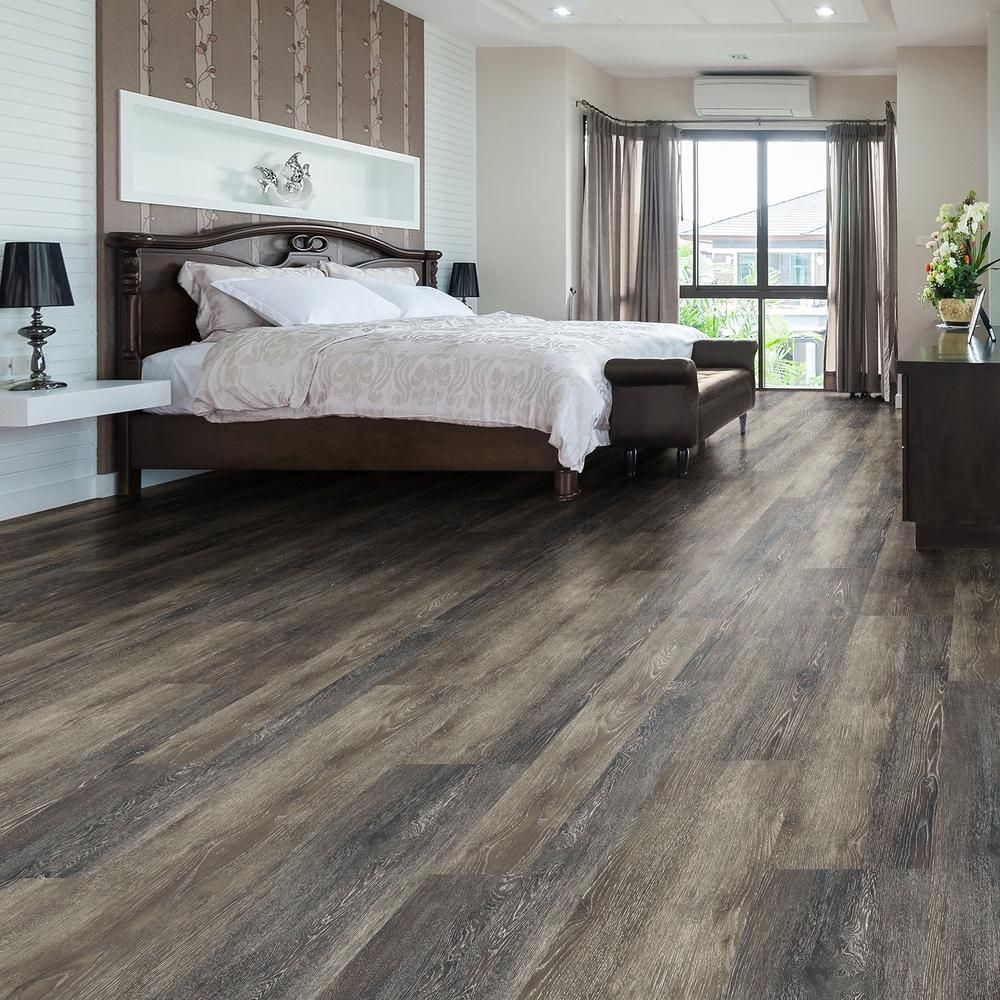 Lifeproof Take Home Sample Dark Grey Oak Luxury Vinyl Flooring 4 In X 4 In 100127914l The Home De Luxury Vinyl Flooring Bedroom Flooring House Flooring