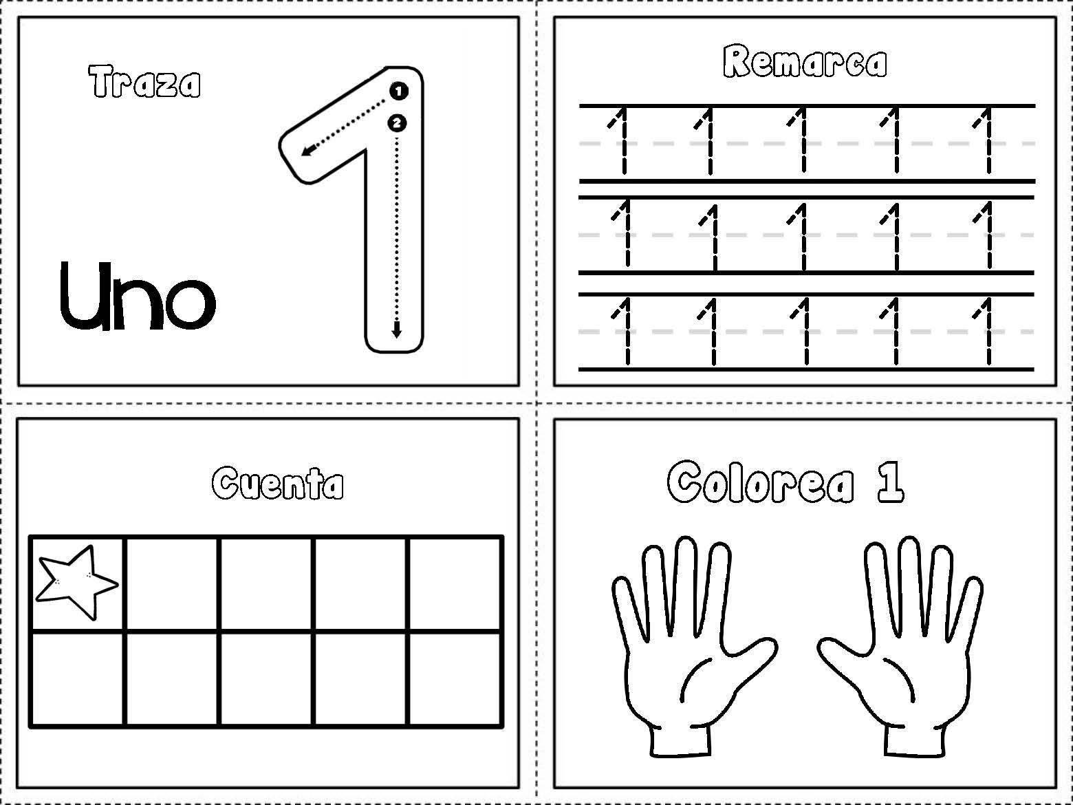 Dibujos Para Colorear Con Numeros Del 1 Al 10: Dibujos Para Colorear De Los Numeros Del 1 Al 10