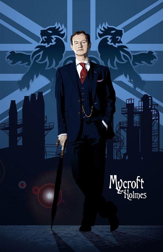 Sherlock  Mycroft Holmes  17 x 11 Digital Print by DadManCult, $15.99