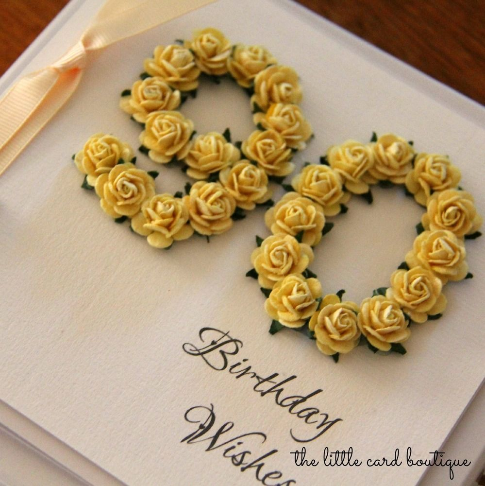 Delightful Card Making Ideas 90th Birthday Part - 14: Handmade 90th Birthday Card