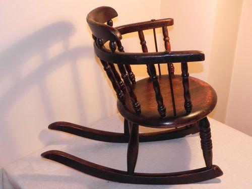 Surprising Small Victorian Childs Oak Rocking Chair Eastlake Spiritservingveterans Wood Chair Design Ideas Spiritservingveteransorg