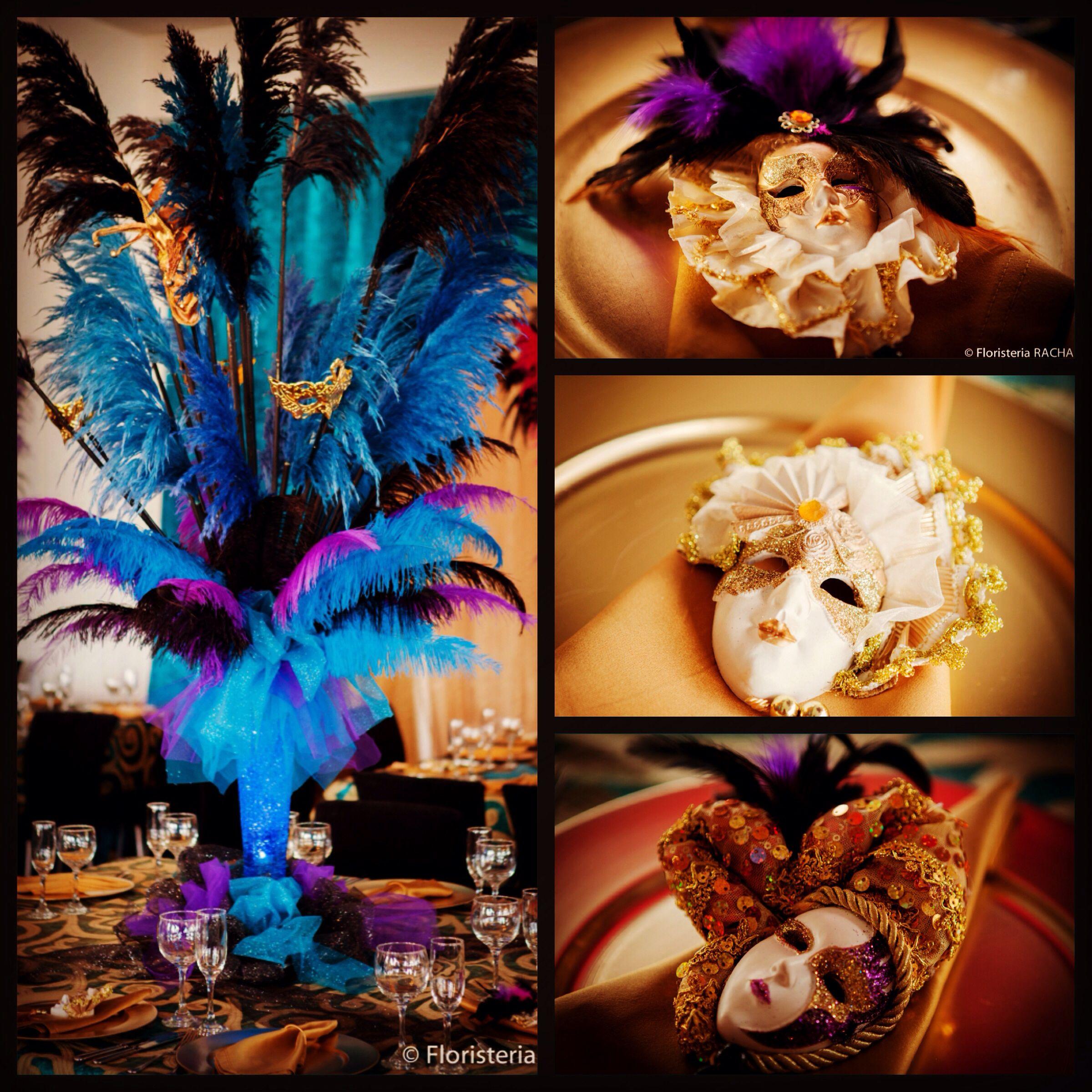 Hermoso centro de mesa decoraci n de carnaval fiesta - Decoracion de carnaval ...