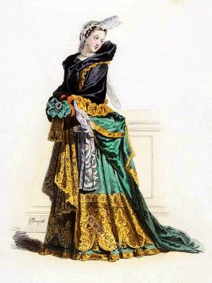 Reign Louis XIV. French fashion history. in 2019