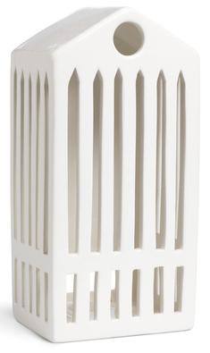 Urbania lyshus i porselen. Designet av Bache & Bendix Becker for Kähler, høyde 20 cm.