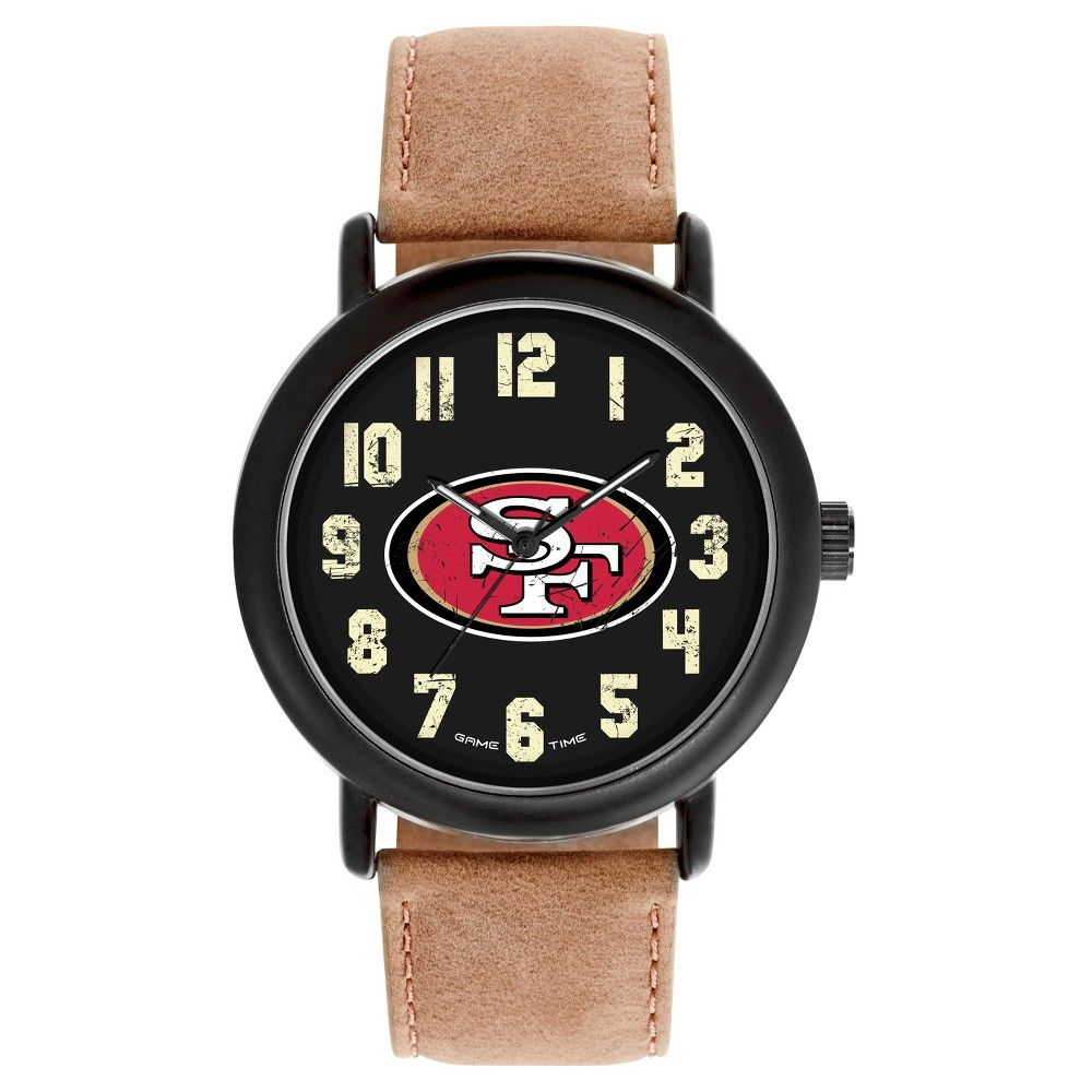Men's Game Time NFL Throwback Sports Watch - Black - San Francisco 49ers