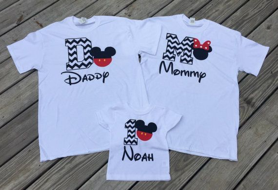 These Mickey Mouse Birthday Shirts Are Adorable 1 Mommy Shirt Daddy And One Child Please Leave Age Of Name Size For