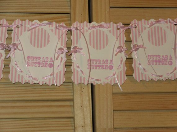 Baby Shower Bib Banner Baby Shower Banner Cute by RubysPlaceInTime