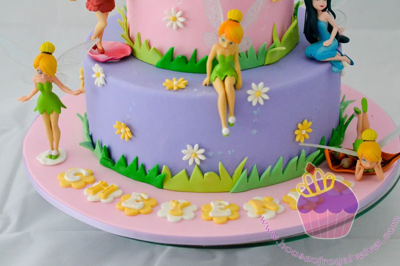 12 Tinkerbell Cake 1st Birthday Cupcakes Photo Tinkerbell 1st
