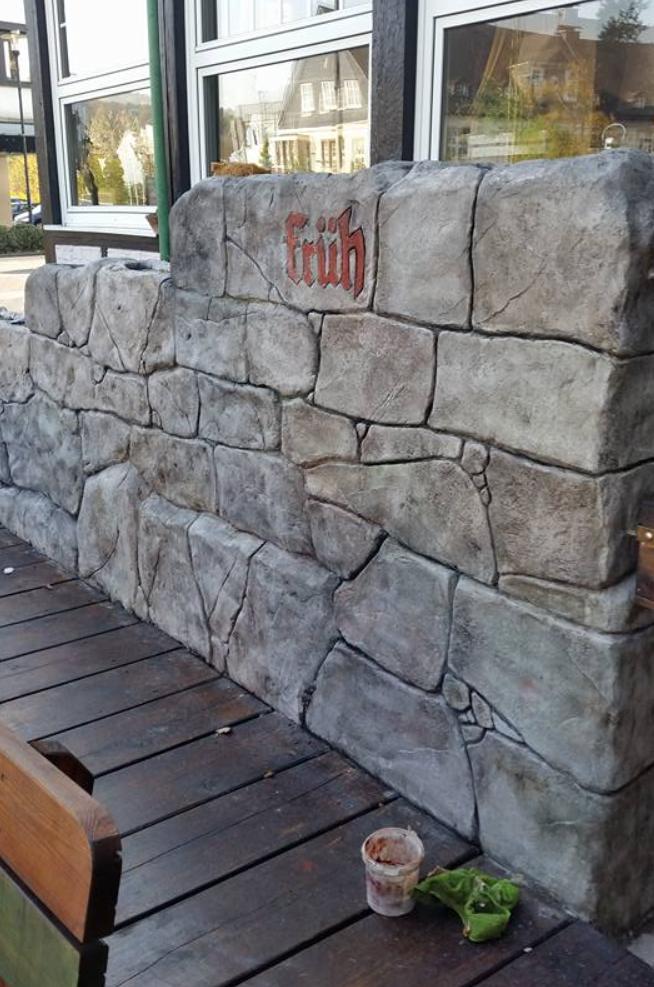 Naturstein? Nein, Diese Wand Ist Aus Stempelputz Von STYLE BETON Deutschland