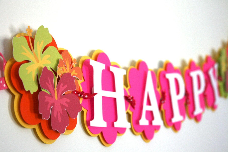 Hawaiian Party Birthday Decorations Luau Party Hawaiian Luau