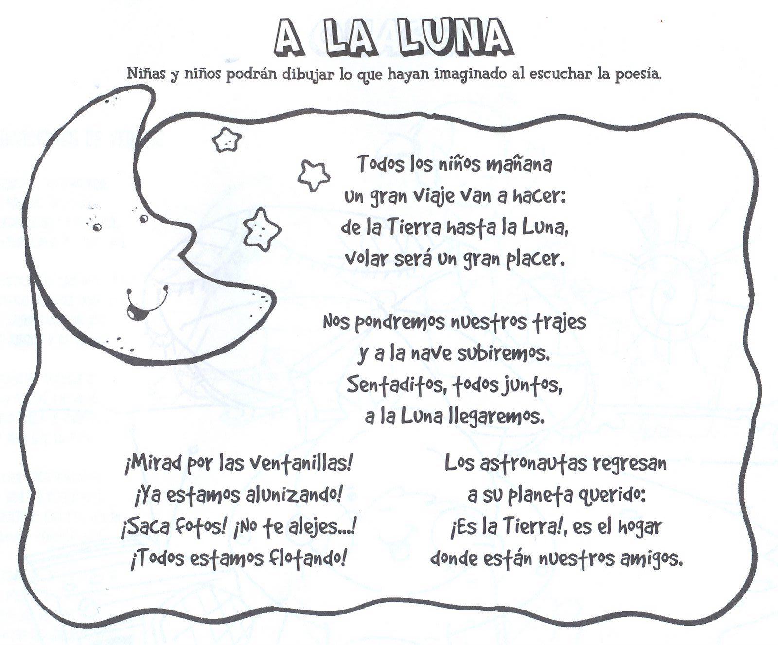 Poesìas Rondas Caligramas Acrosticos Trabalenguas Poesia A La Luna Acrosticos Astronomia Para Niños