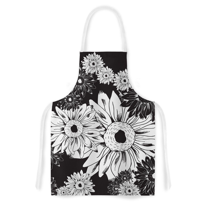 Kess InHouse Laura Escalante 'Midnight Florals' Sunflower Artistic Apron