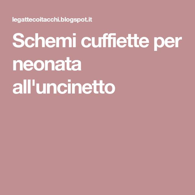 Schemi Cuffiette Per Neonata Alluncinetto Bambini