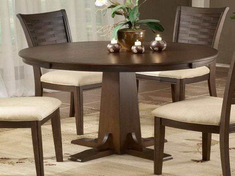 archaicfair dark wood round dining room tables - Wood Round Dining Table For 4