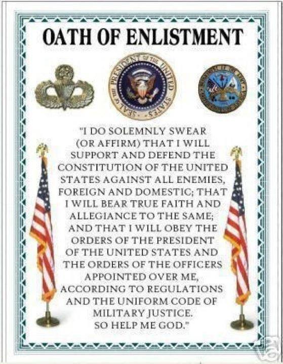 Oath Of Enlistment | Military quotes, Usmc quotes, Usmc